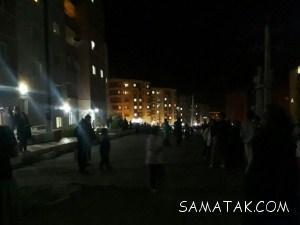 کلیپ زلزله تهران   لحظه وقوع زلزله امشب تهران