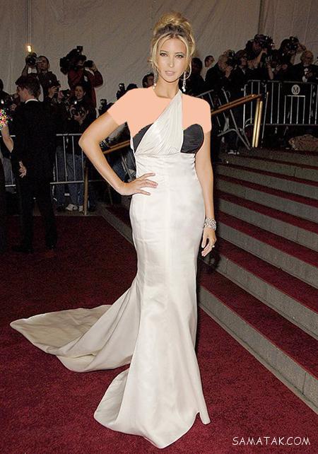 عکس شیک ترین مدل های لباس شب ایوانکا ترامپ
