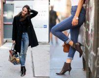 اصول پوشیدن بوت و نیم بوت با شلوار جین و لی زنانه