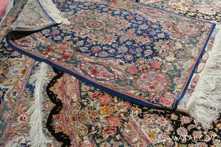 طرح های رایج و رنگ بندی فرش دستباف یزد