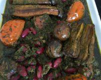 آموزش طبخ و طرز درست کردن خورشت قورمه سبزی گیلانی