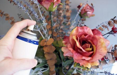 آموزش تصویری تميز كردن گل مصنوعي