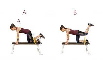 آموزش تصویری ورزش کردن با کش تراباند در خانه