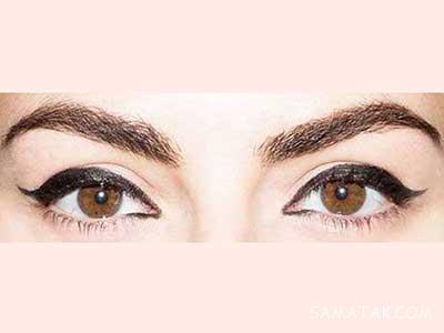 آموزش تصویری کشیدن خط چشم برای چشمهای ریز و درشت