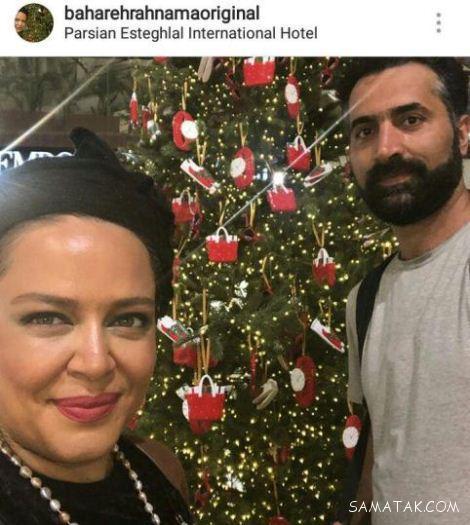 عکس های خفن بهاره رهنما و شوهرش در شب سال نو میلادی
