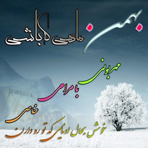 عکس نوشته تبریک تولد بهمن ماه