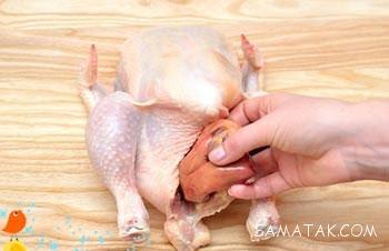 آموزش تصویری بهترین روش خرد کردن مرغ (4 تکه و 8 تکه)