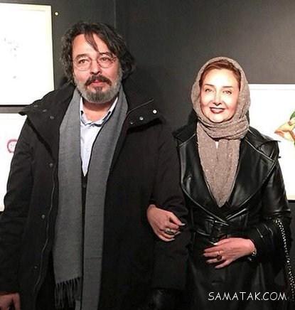 مجموعه تصاویر کتايون رياحي با تیپ فشن در کنار شوهرش
