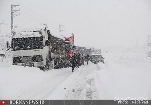 عکسهای دیدنی بارش برف یک متری در مازندران و گیلان
