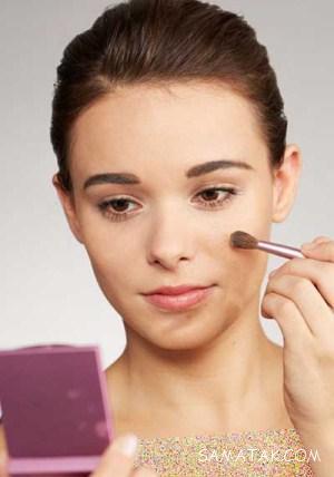آموزش تصویری محو کردن و پوشاندن جای جوش با آرایش