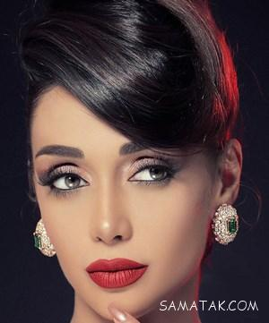 عکس مدل های آرایش چشم و لب الناز گلرخ