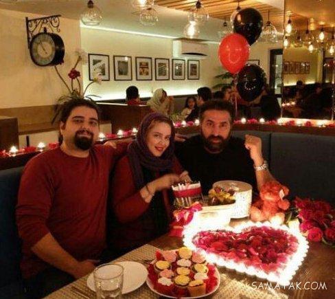 جشن دونفره بهاره رهنما با شوهرش در شب ولنتاین + عکسها