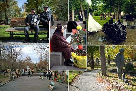 پارک عشاق ارمنستان در شهر ایروان + تصاویر