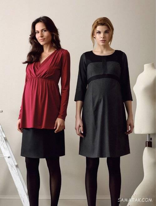 انواع مدل لباس بارداری برای عید 99