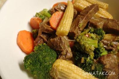 طرز تهیه خوراک با گوشت تکه ای