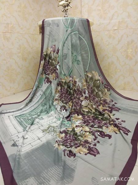 روسری قواره بزرگ نخی بهار و تابستان 97 - 1397