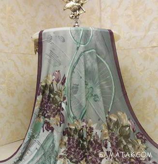 روسری قواره بزرگ نخی بهار و تابستان 97 – 1397