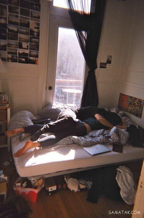 خوابیدن زن و شوهر در کنار هم