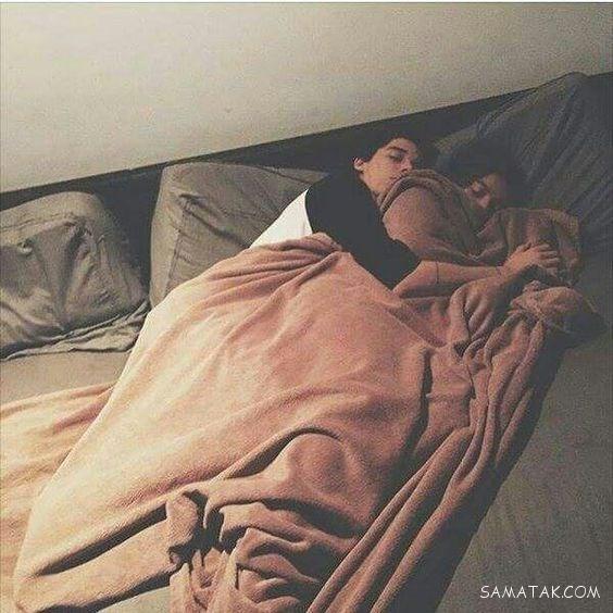 طرز خوابیدن زن و شوهر در کنار هم