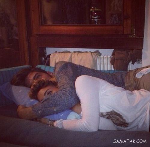 خوابیدن زن و شوهر در بغل هم