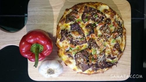 طرز تهیه پیتزا زبان گوساله