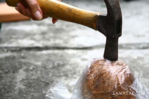طریقه پوست کندن نارگیل تازه