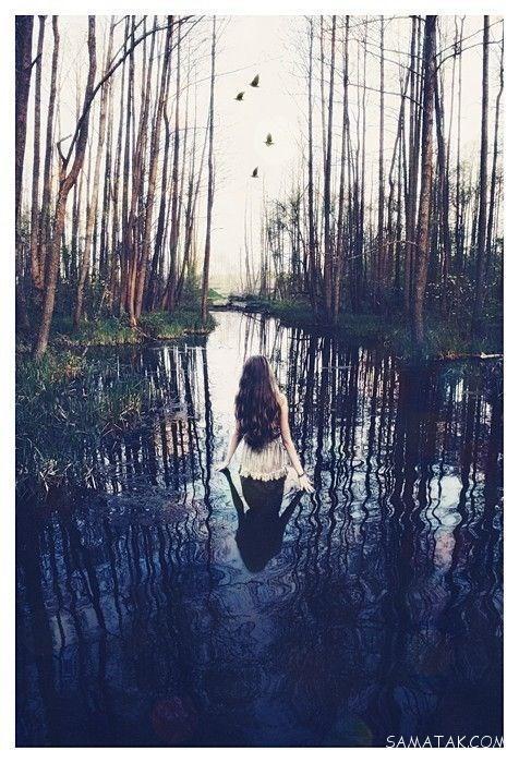 عکس دختر تنها و غمگین جدید