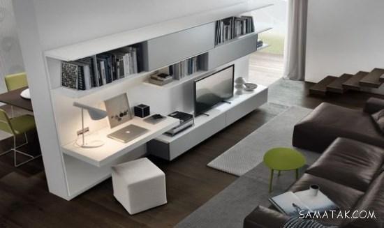 میز تلویزیون دیواری ساده و شیک در طرح ها و اندازه های مختلف