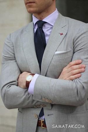 مدل های شیک کت و شلوار مردانه طوسی روشن و تیره