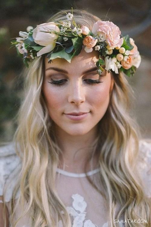 جدیدترین مدل های تاج سر عروس از گل طبیعی