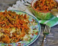 آموزش تصویری طرز تهیه استانبولی با مرغ و لوبیا سبز