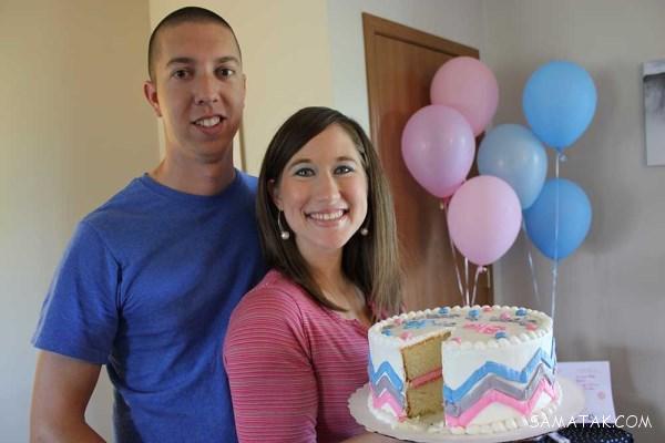 عکس زیباترین مدل های کیک تعیین جنسیت نوزاد