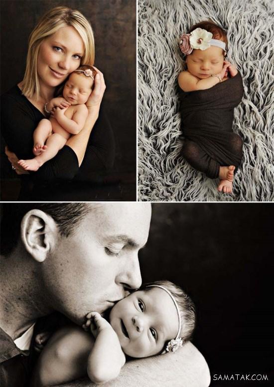 بهترین ژست های عکاسی و عکس گرفتن خانوادگی با نوزاد