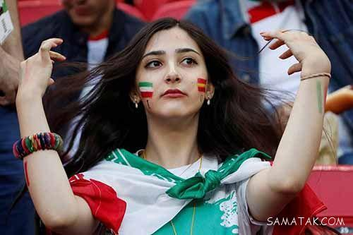 دختران و زنان بی حجاب ایرانی در ورزشگاه های جام جهانی روسیه