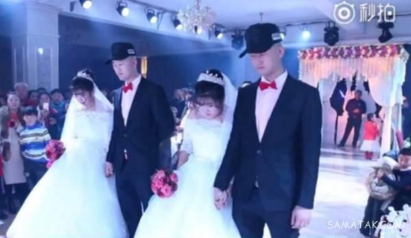 شب زفاف دوقلوهای خواهر و برادر در یک اتاق خواب + تصاویر