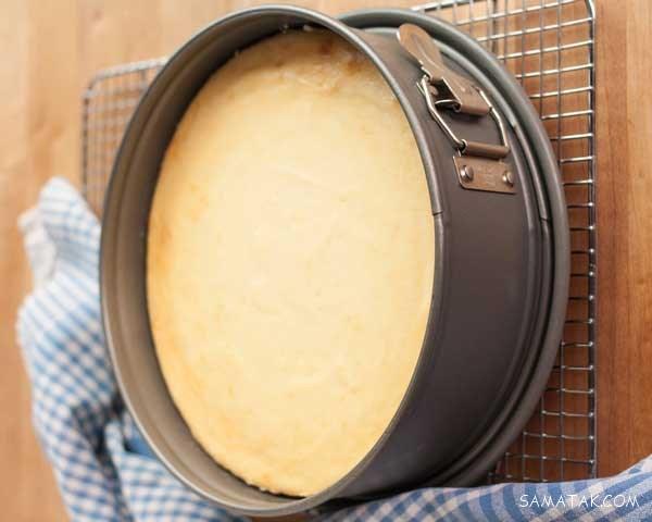 طرز تهیه چیز کیک ساده با ژله (آموزش تصویری)