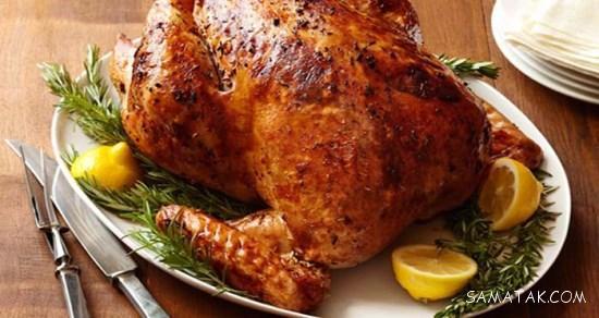 طرز تهیه مرغ بریان شکم پر در فر و بدون فر