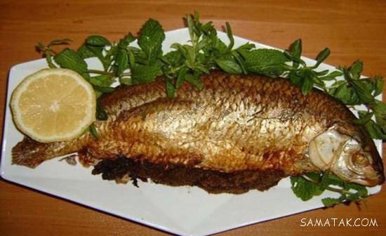 طرز تهیه ماهی شکم پر جنوبی در فر با سبزیجات معطر