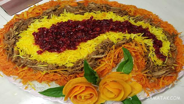 عکسهای تزیین انواع غذاهای مجلسی برای سفره ایرانی