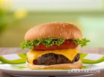 آموزش تصویری طرز تهیه همبرگر ذغالی حرفه ای