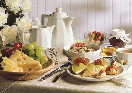 اصول چیدمان و تزیین میز صبحانه   عکس هایی از چیدمان و تزیین میز صبحانه