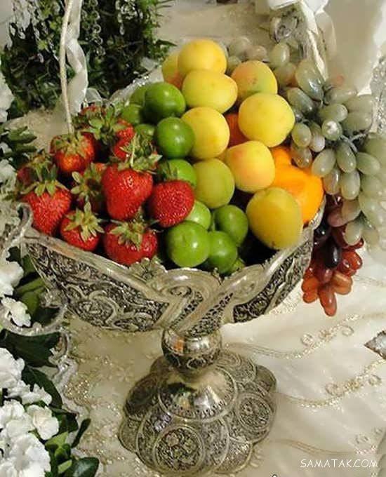 عکس مدل های تزیین میوه در دیس برای مهمانی و خواستگاری