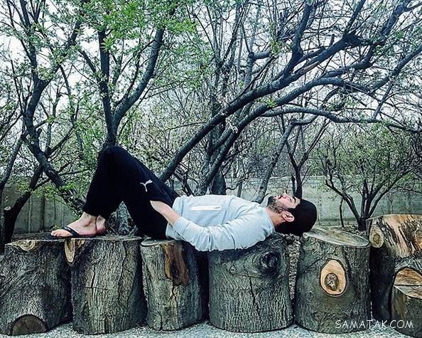 عکس های لو رفته سینا مهراد بازیگر نقش حامد در سریال پدر
