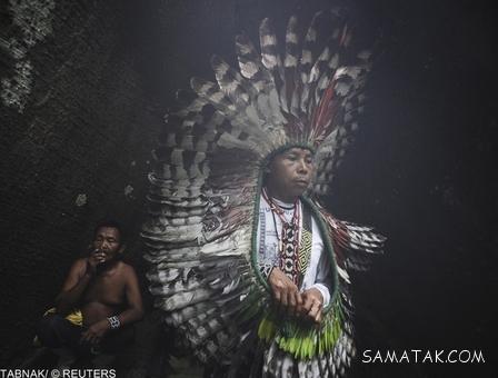 زنان قبایل وحشی آمازون + عکس های زنان وحشی جنگل های آمازون