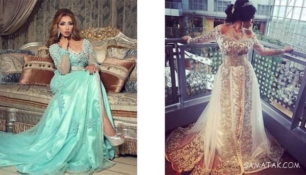 لباس مجلسی عربی کار شده زنانه و دخترانه ۲۰۲۰