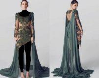 لباس مجلسی عربی کار شده زنانه و دخترانه ۲۰۱۹