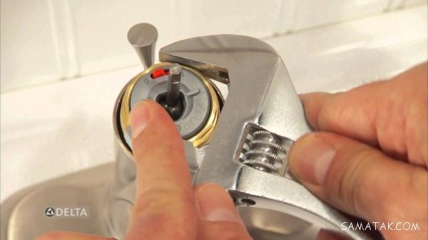 آموزش تعمیر چکه شیر آب + نحوه تعویض واشر و مغزی شیر آب مخلوط و اهرمی