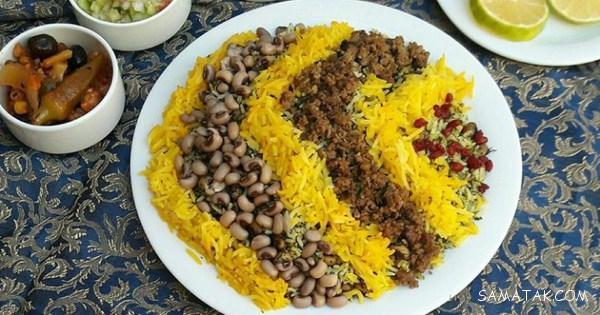 دستور پخت لوبیا پلو شیرازی با گوشت قلقلی