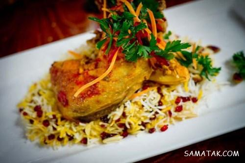 طرز پخت زرشک پلو با مرغ رستورانی و مجلسی + نکات تزیین