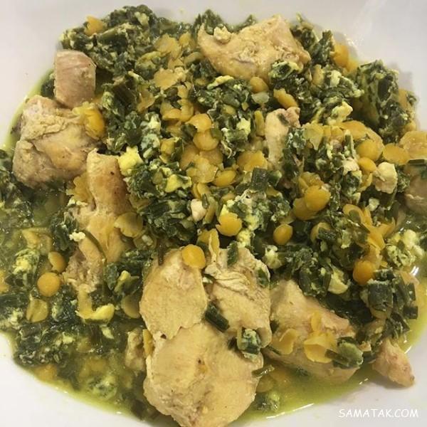 طرز تهیه سیر قلیه رشتی با مرغ | طرز تهیه خورش سیر قلیه گیلانی